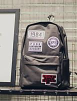 Недорогие -Муж. Мешки Полиуретан рюкзак Молнии для Повседневные на открытом воздухе Все сезоны Синий Серый Светло-серый