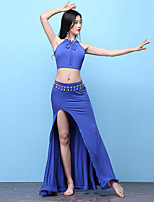 cheap -Belly Dance Outfits Women's Training Modal Split Sleeveless Dropped Skirts Top