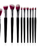 cheap -11pcs Suits Powder Brush Lip Brush Blush Brush Makeup Brush Set Make Up Synthetic Hair Eco-friendly Soft Comfy Glitter Shine Full Coverage