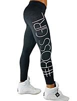 preiswerte -Yoga-Hose Strumpfhosen/Lange Radhose Trainer Yoga Schnelles Trocknung Fitness Mittlere Taillenlinie strenchy Sportbekleidung Damen Yoga