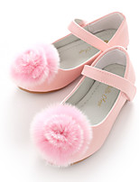 cheap -Girls' Shoes Leatherette Spring Fall Flower Girl Shoes Ballerina Flats Pom-pom Magic Tape for Wedding Party & Evening White Pink