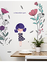 abordables -Abstracto Floral/Botánico Pegatinas de pared Calcomanías de Aviones para Pared Pegatinas de pared de animales Calcomanías Decorativas de
