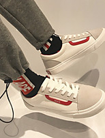 cheap -Men's Shoes Canvas Spring Comfort Sneakers for Casual White Black