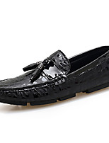 abordables -Homme Chaussures Tulle Hiver Automne Chaussures de plongée Mocassins et Chaussons+D6148 Boucle pour Décontracté Soirée & Evénement Noir