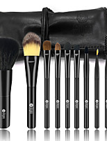 cheap -9pcs Professional Makeup Brushes Makeup Brush Set Horse / Synthetic Hair / Weasel Horse Hair Plastic Child / Adult / 1 * Fan Brush