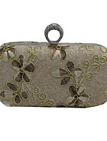 cheap -Women's Bags Metal Evening Bag Embroidery for Event/Party Office & Career All Seasons Khaki