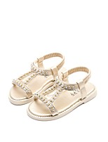 cheap -Girls' Shoes PU Leather Spring Summer Comfort Sandals Rhinestone for Casual Dress Gold Silver Pink