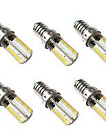 preiswerte -BRELONG® 6pcs 5W 500lm E14 LED Mais-Birnen 80 LED-Perlen SMD 3014 Warmes Weiß Weiß 220-240V