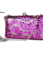 cheap -Women's Bags Plastic Evening Bag Rivet for Wedding Event/Party Spring All Seasons Black Fuchsia