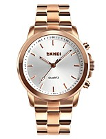 cheap -SKMEI Women's Couple's Dress Watch Fashion Watch Casual Watch Japanese Quartz Water Resistant / Water Proof Large Dial Alloy Band Luxury