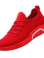 baratos -Homens sapatos Tule Arrastão Primavera Verão Solados com Luzes Conforto Tênis para Casual Ao ar livre Preto Cinzento Vermelho