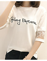 cheap -Women's Cute Cotton T-shirt - Letter & Number Modern Style