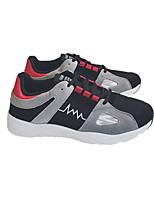 preiswerte -Herrn Schuhe Kunstleder Winter Komfort Sneakers für Normal Schwarz Rot