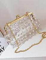 baratos -Mulheres Bolsas PVC Bolsa de Ombro Ziper para Casual Todas as Estações Branco