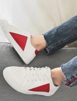 abordables -Homme Chaussures PU de microfibre synthétique Printemps Automne Confort Basket pour Décontracté Blanc Noir Rouge
