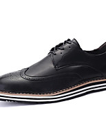 cheap -Men's Shoes Synthetic Microfiber PU Spring Fall Comfort Oxfords for Casual Black Dark Brown Burgundy