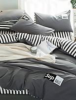 preiswerte -Bettbezug-Sets Geometrische Muster 4 Stück Polyester / Baumwolle Polyester Reaktivdruck Polyester / Baumwolle Polyester 1 Stk.