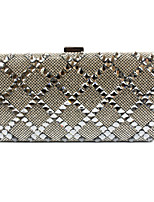 cheap -Women's Bags PU Evening Bag Rivet for Wedding Event/Party Spring All Seasons Black Silver