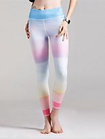 abordables -Pantalon de yoga Leggings Bas Avion-école Danse Marche Yoga Séchage rapide Fitness Haute élasticité Taille médiale Elastique Vêtements de