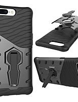 Недорогие -Кейс для Назначение OnePlus 5 Защита от удара со стендом Поворот на 360° Кейс на заднюю панель броня Твердый ПК для One Plus 5