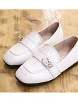 cheap -Girls' Shoes Patent Leather Spring Fall Comfort Loafers & Slip-Ons for Casual White Black Yellow