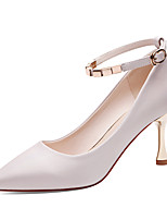 cheap -Women's Shoes Synthetic Microfiber PU Spring Fall Basic Pump Gladiator Heels Stiletto Heel for Casual Party & Evening White Light Pink