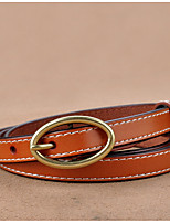 cheap -Women's Vintage Casual Leather Alloy Waist Belt - Solid Colored