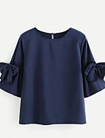 Недорогие -Жен. Рубашка Простой Однотонный