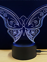 cheap -1set 3D Nightlight Touch 7-Color DC Powered Stress and Anxiety Relief with USB Port Color-Changing