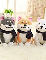 cheap -1PC Wear scarf Shiba Inu Dog Animal Stuffed Animal Plush Toy Comfy Exquisite Lovely Gift 1pcs
