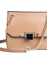 cheap -Women's Bags PU Shoulder Bag Rivet for Shopping Blushing Pink / Brown / Khaki