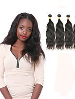 cheap -Peruvian Natural Wave Human Hair Weaves 4pcs 0.4