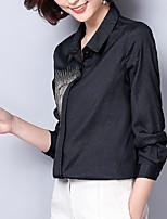 cheap -Women's Vintage Shirt Shirt Collar