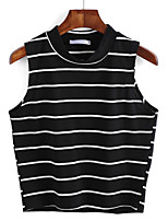 cheap -Women's Slim T-shirt - Striped