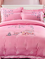 cheap -Duvet Cover Sets Embellished&Embroidered 4 Piece Poly/Cotton 100% Cotton Reactive Print Poly/Cotton 100% Cotton 1pc Duvet Cover 2pcs