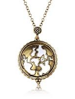 Недорогие -Муж. Ожерелья с подвесками - Этнический Очаровательный Античная бронза Ожерелье Бижутерия 1 Назначение Для вечеринок, Свидание