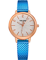 cheap -Women's Quartz Fashion Watch Chinese Casual Watch Other Band Minimalist Elegant Black Blue Silver Red Gold Pink Rose Rose Gold