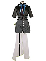 cheap -Inspired by Macross Frontier Cosplay Anime Cosplay Costumes Cosplay Suits Other Half Sleeves Top Pants More Accessories Waist Belt For