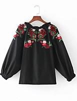preiswerte -Damen Blumen-Grundlegend T-shirt