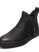cheap -Men's Shoes Cowhide Nappa Leather Winter Fall Combat Boots Comfort Boots Booties/Ankle Boots for Casual Black