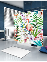 cheap -Shower Curtains & Hooks Country Polyester Animal Machine Made Waterproof