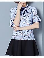 abordables -Chemisier Femme, Fleur - Coton