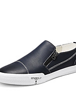 cheap -Men's Shoes Leather Spring Summer Moccasin Comfort Loafers & Slip-Ons for Casual Office & Career Black Dark Blue