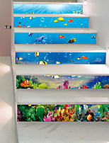 cheap -Landscape Nautical Wall Stickers 3D Wall Stickers Animal Wall Stickers Decorative Wall Stickers, Vinyl Paper Home Decoration Wall Decal