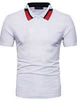 cheap -Men's Basic Cotton Polo - Solid Colored Shirt Collar
