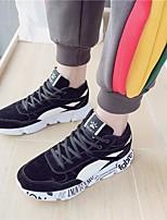 Недорогие -Муж. обувь Полиуретан Весна Удобная обувь Кеды для Повседневные Черный