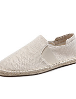 cheap -Men's Shoes Linen Cotton Summer Fall Espadrilles Moccasin Loafers & Slip-Ons for Casual Office & Career Beige