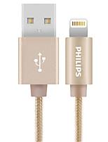 Недорогие -Подсветка Адаптер USB-кабеля Быстрая зарядка Высокая скорость Кабель Назначение iPhone 30 cm Нейлон