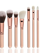 cheap -8pcs Makeup Brush Set Synthetic Hair Nylon Soft Full Coverage Wooden Face Christmas Wedding Party Halloween Soft Full Coverage