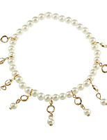 cheap -Imitation Pearl Anklet - Women's Gold Silver Fashion Geometric Imitation Pearl Alloy Anklet For Daily